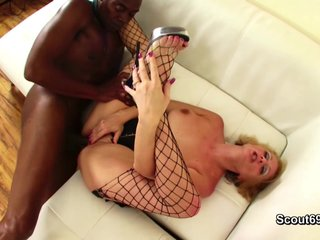 Ebon Monster Dick fucks german Milf hard