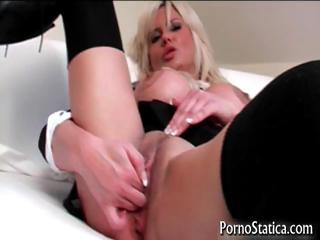 Busty Karen Kay gets pussy licked part1