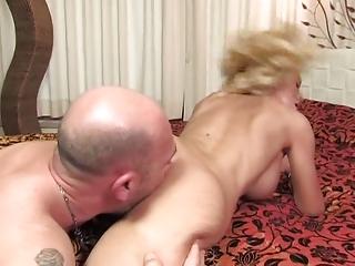 Evita Pozzi - Guy Fucks Busty Blonde in Bed