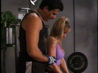 Not only blonde's arms are fit