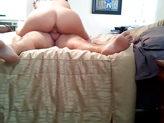 Big butt wife riding cock
