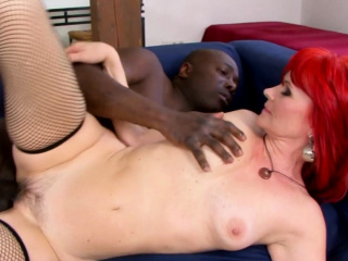 Granny Vs BBC - Redhead Amanda Flesh-coloured