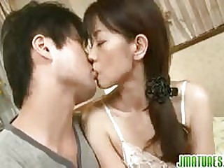 Of age Asian maw is acquiring pounded involving her mouth and pussy from behind..