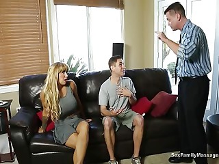 Mr Big Milf Is Pleasuring The brush Step Son