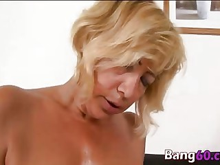 Kinky mature maw spooned wide of horny BBC