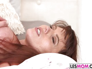 Katalina Mills gets licked wide of mom Amber Chase
