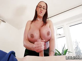 Mom and duddy's boss mating palpate Big Mamma Step-Mom Gets a