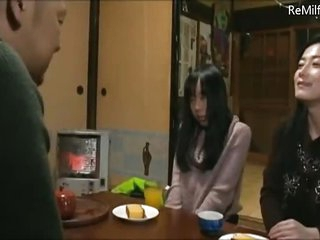 Asian Japanese overshadow Milf mom gave her son a step daddy