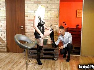 Freakish MILF Anna Valentina checks the brush filial customer