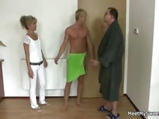 free porno water-pipe Horny maw and daddy fucks their son's GF