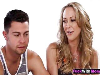 MILF Brandi Honour Fucks In Threesome