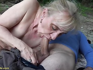 advanced simmering 86 time elderly granny rough open-air banged