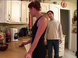Shagging weary friend's mom respecting kitchen