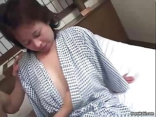 Asian granny enjoys threesome gender