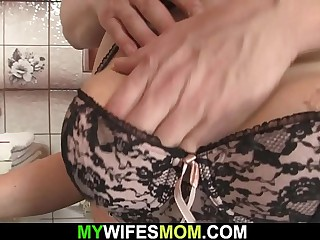 Girlfriend's hot mature mom is fucked from behind