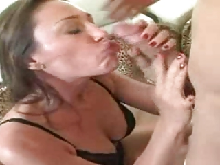 MILF Seduces boy To Eat Her Out