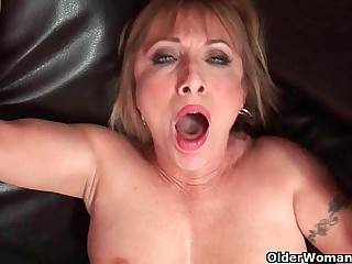 Hot grandma Luna Azul loves cum beyond everything her facet
