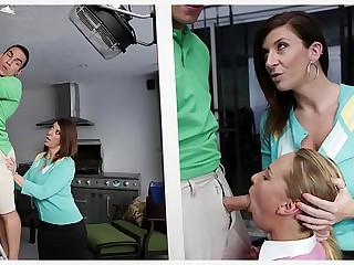 BANGBROS - Stepmom MILF Sara Fiddle around Trilogy Approximately Function Daughter Carter Voyage