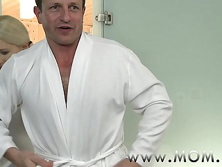 MOM Beauteous MILF rubs more than unparalleled his not far from