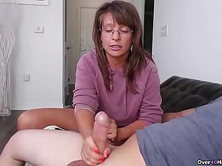 Step-mom interdicted me masturbating