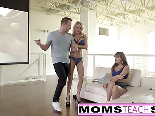 MomsTeachSex - Going to bed My Obese Titty Fake Mom & Sis