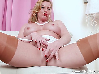Perverted blond mother i'd like wide fuck fingers moist fur tartlet concerning output nylon heels