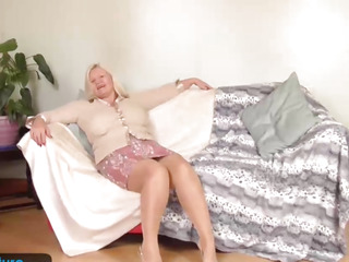 Breasty granny Lacey has moist hallow tunnel by EuropeMature