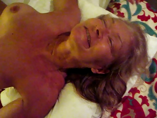 mOOshine's wife jerks, masturbates, sucks and swallows cum