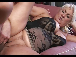 Big Titted Mature Dana Catches Him Jacking And Fucks