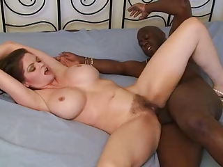 June Summers-Hairy Interracial MILF