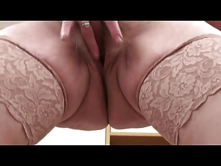 Flimsy Mature Milf in Stockings Fingers