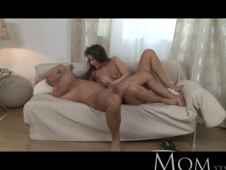 MOM - Sophisticated brunette with Victorian pussy