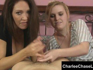Tampa MILF Charlee Chase's Twin Handjob!