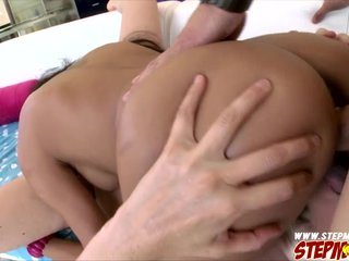 Busty stepmom trapped cock with an increment of gets laid