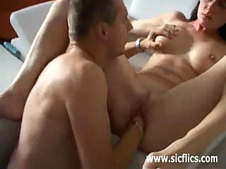 Hot MILF gets sinistral fucked in the brush yuppy pussy